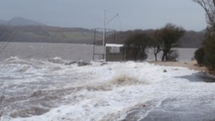 High tide in Kippford, Dumfries and Galloway.