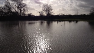 Flooded fields near the river Chelmer