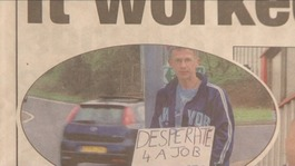 Persistence pays off for man 'desperate' for work
