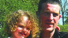 Jonathan Turner, who died after an attack in Mansfield, and his daughter, Maisie.