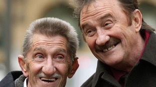 The Chuckle Brothers, Barry (left) and Paul Elliott, arrive at Southwark Crown Court in London.