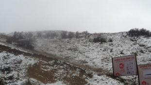 Snow at Syrian refugee camp, Lebanon