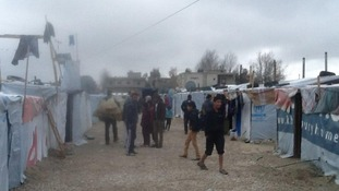 Makeshift conditions at one camp, Lebanon
