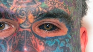 Body Art, 34, has got his eyeball tattooed black