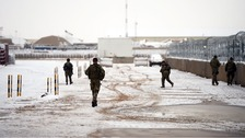 Camp Bastion in Helmand Province, Afghanistan, experienced a covering of snow for the first time yesterday.