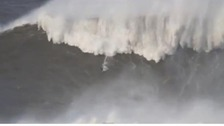 Andrew Cotton riding a potentially record breaking wave
