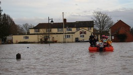 Flooded family's boat capsize horror