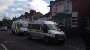 Police vans near the Gordon Arms in Fareham