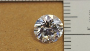 Diamonds valued at £100,000 were found in the safe deposit boxes.