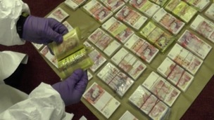 £500,000 in cash was found in the safe deposit boxes.