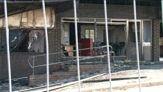 Fire damaged shop