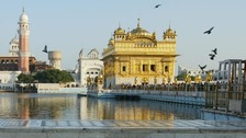 The Golden Temple of Amritsar.