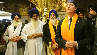 David Cameron visited the Golden Temple of Amritsar last year.