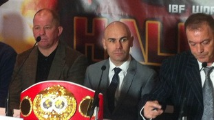 World IBF Bantamweight champion, Stuart Hall.