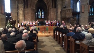 choir sings at memorial for Bert Williams