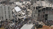 The Rana Plaza disaster in April last year.