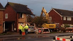Demolition work has started.