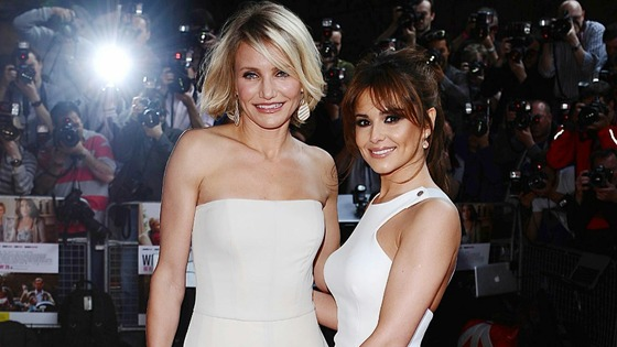 Cheryl Cole and Cameron Diaz arriving for the UK premiere of What To Expect When You're Expecting