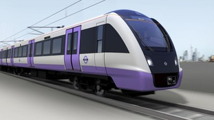 An artist's impression of what the new Crossrail trains from Bombardier will look like