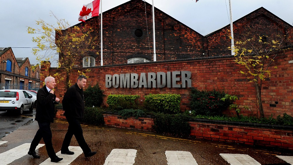How bombardier deal their transportation business around the globe