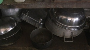 Some of the pots and pans Rose salvaged