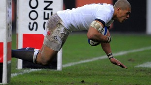 Luther Burrell scored on his debut against France.