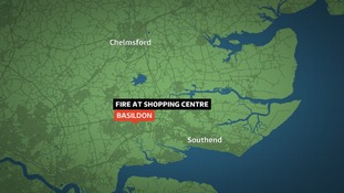 Crews were called to a fire at a Basildon shopping centre.