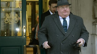 Communities Secretary Eric Pickles leaves a Cobra meeting at the Cabinet Office in London