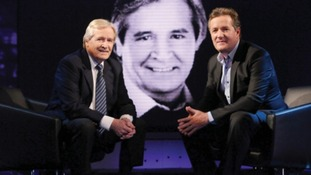 William Roache and Piers Morgan