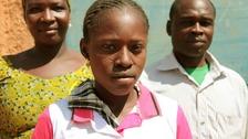Thirteen-year-old Fatmata
