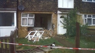 Paul Kingsman drove his car through the front wall of Charlene Vernall's home.