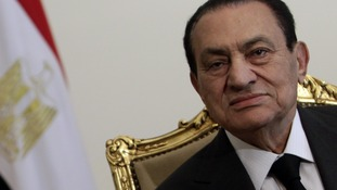 Hosni Mubarak in February 2011 before he ceded power