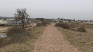The footpath in Snettisham.