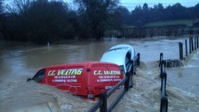 Cars were swept away in Much Hadham in Herts earlier this morning.