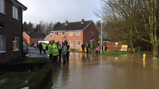 The waters are now starting to subside in Bury St Edmunds.
