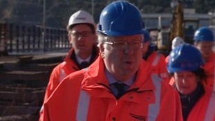 Transport Secretary Patrick McLoughlin visits Dawlish train station in Devon