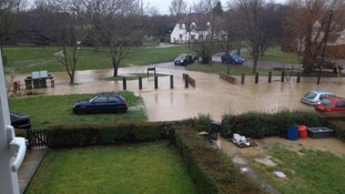 Residents had to dash out to save their cars at Blackmore End in Essex.