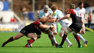 Worcester Warriors in action on the pitch