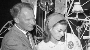 Artist and clock designer Rowland Emett and his daughter Claire, pictured in 1966