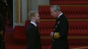 Jonnie Peacock picked up his MBE today.
