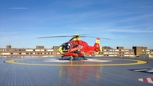 The child was hit in Cannock this afternoon