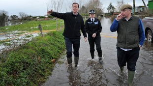 David Cameron on his first visit to the area.