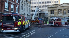Fire at Bedford's Old Town Hall