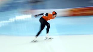 Jan Blokhuijsen of the Netherlands in action during the Men's 5000m Speed Skating event