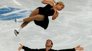 Kirsten Moore-Towers and Dylan Moscovitch of Canada compete during the Team Pairs Free Skating