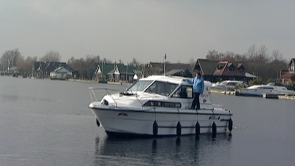 Boat on the Norfolk Broads