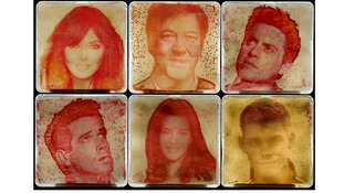 Celebrity portraits grown from stars' own bacteria