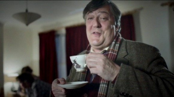 Stephen Fry on television commercial
