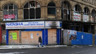 Empty shops in Bradford city centre