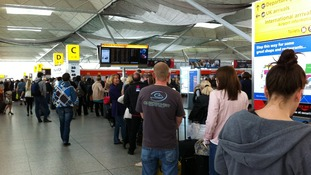 Stansted Airport: strike but business as usual